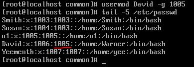 After -g option with usermod command in linux
