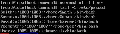 After -l option with usermod command in linux