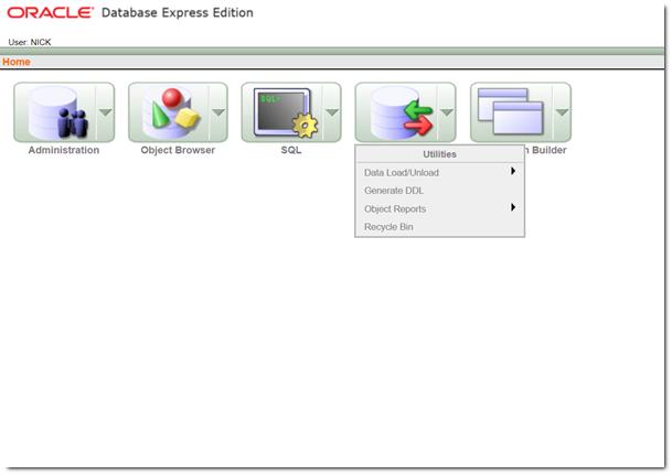 Snapshot showing Utilities Options