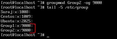 -o option with groupmod