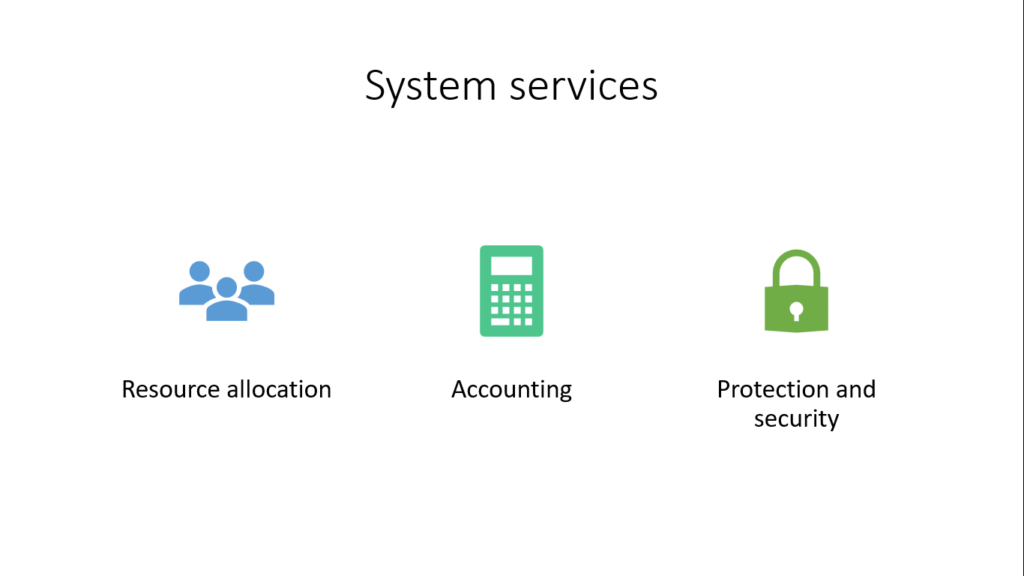 operating system services for system
