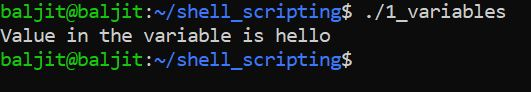 Using Variables in Shell Scripting