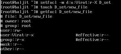 Default Access Control List(ACL)